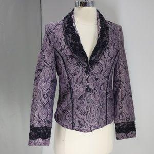 Lavendar & Honey purple paisly blazer-sz PS
